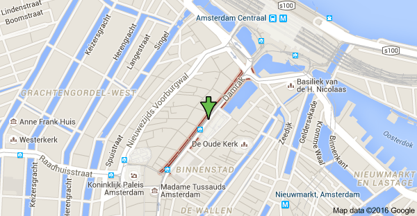 map of damrak amsterdam