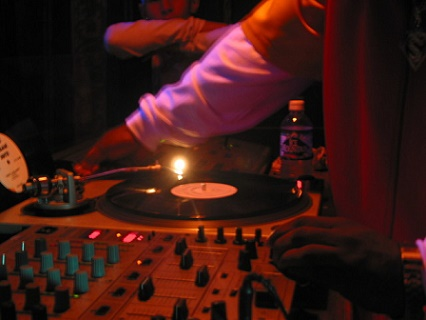Dj in a nightclub