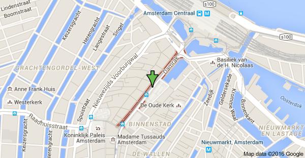 map of damrak amsterdam