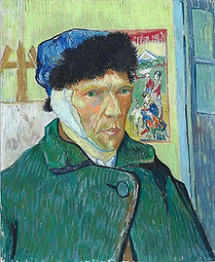 Van Gogh self-portrait with bandaged ear